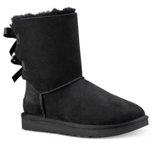 Bailey Ugg Boot with Bow Black US7 Great Condition